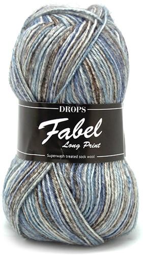 Drops Fabel Long Print 604 Ocean-view