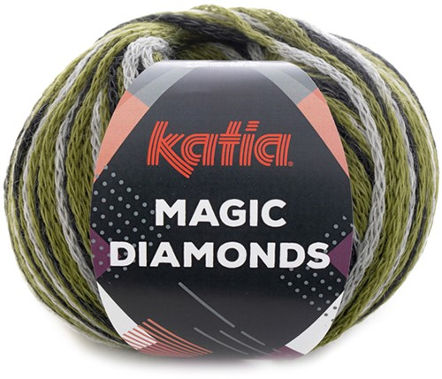 Katia Magic Diamonds 060 Green / Grey / Black