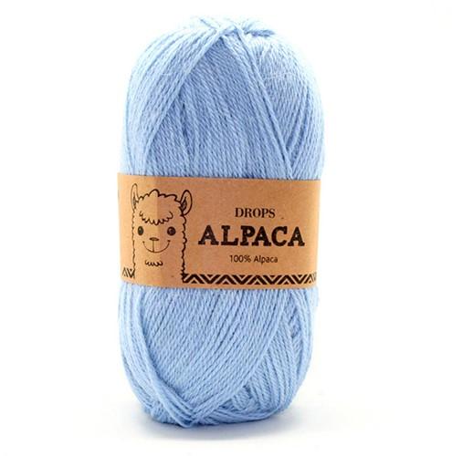 Drops Alpaca Uni Colour 6205 Lichtblauw