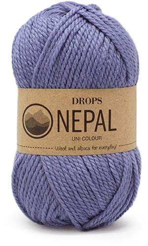 Drops Nepal Uni Colour 6220 Zachtblauw