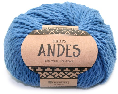 Drops Andes Uni Colour 6295 Denimblauw