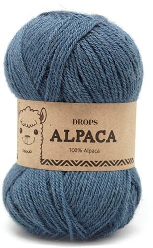 Drops Alpaca Uni Colour 6309 Turkoois/blauw
