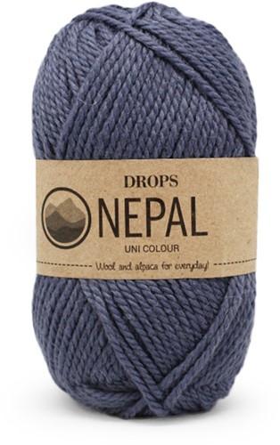 Drops Nepal Uni Colour 6314 Denimblauw