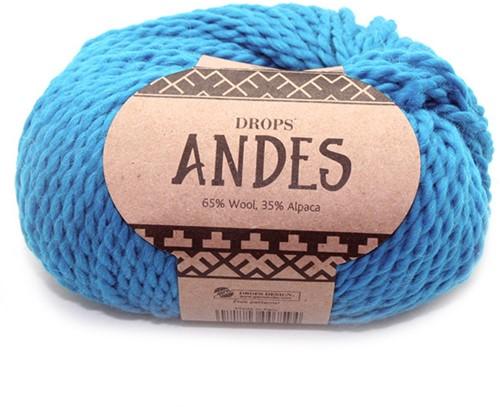 Drops Andes Uni Colour 6420 Turkoois