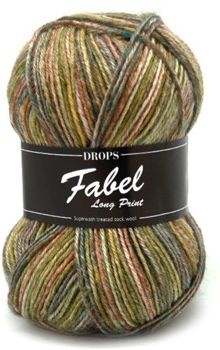 Drops Fabel Long Print 650 Forest