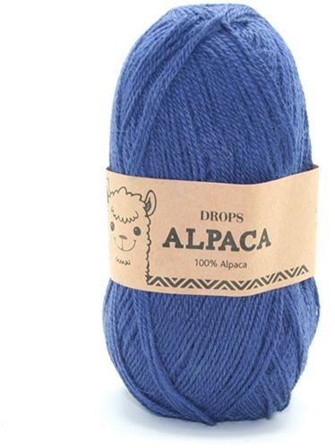 Drops Alpaca Uni Colour 6790 Kobaltblauw