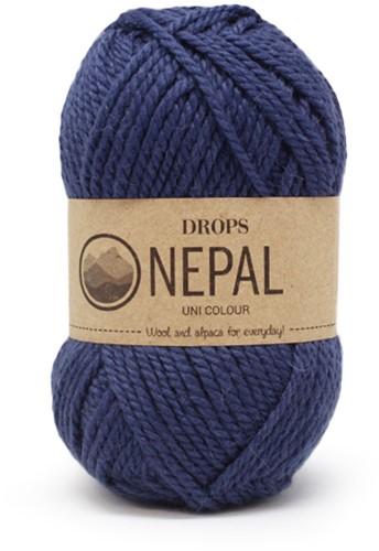 Drops Nepal Uni Colour 6790 Koningsblauw