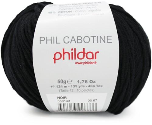 Phildar Phil Cabotine 1200 Noir