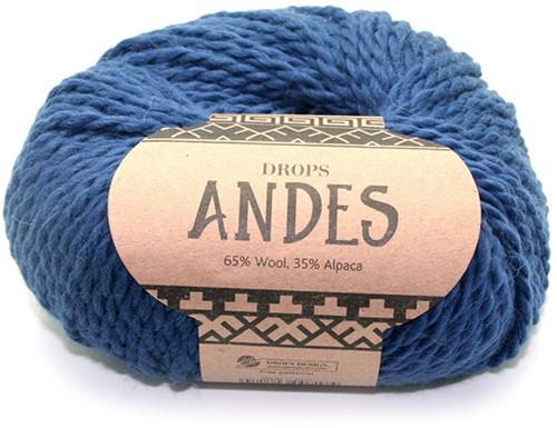 Drops Andes Uni Colour 6928 Koningblauw
