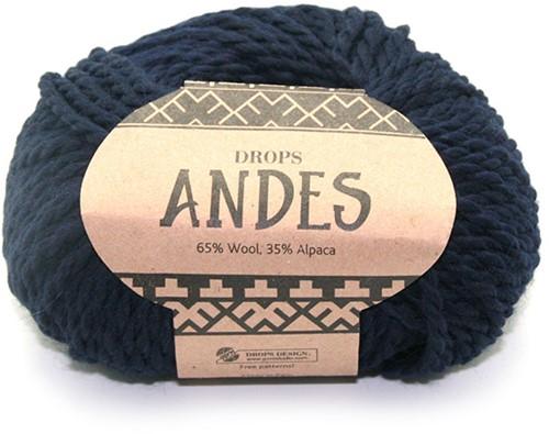 Drops Andes Uni Colour 6990 Marineblauw