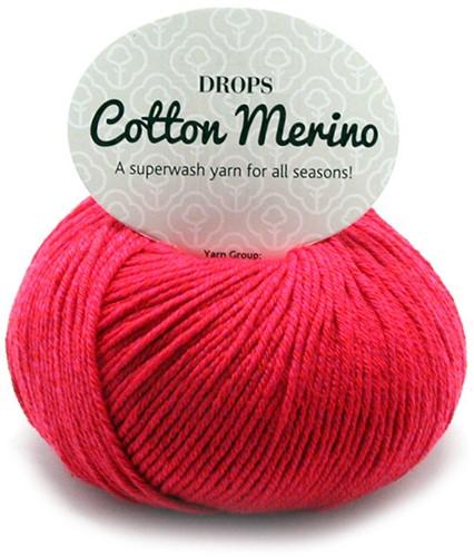 Drops Cotton Merino Uni Colour 6 Rood