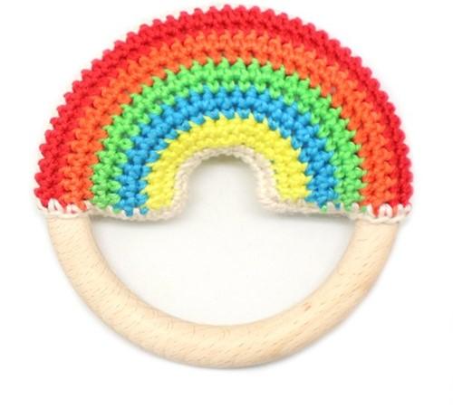 Wolplein Regenboog Bijtring Haakpakket 6 Colorful