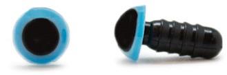 Veiligheidsogen Blauw 6mm per paar