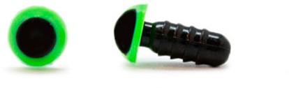 Veiligheidsogen Groen 6mm per paar