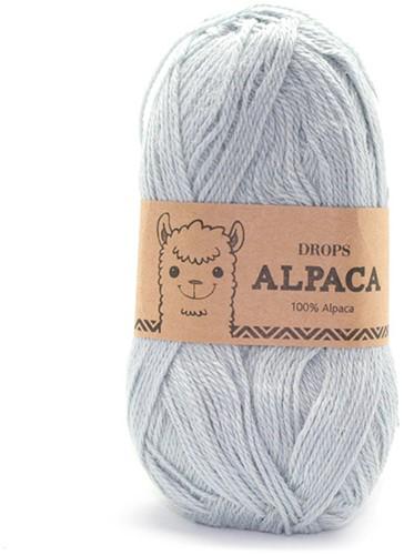 Drops Alpaca Uni Colour 7120 Lichtgrijs/groen
