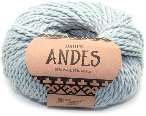 Drops Andes Uni Colour 7120 Licht-grijsgroen