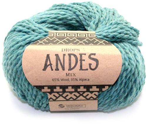 Drops Andes Mix 7130 Zeegroen