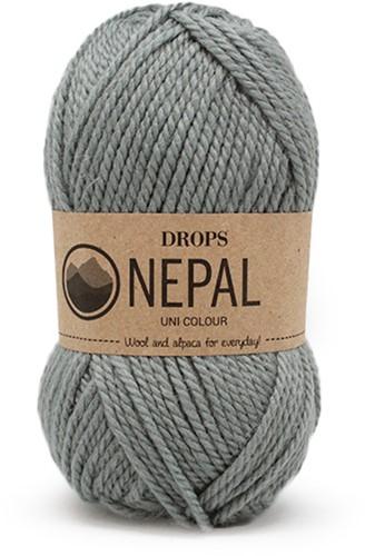 Drops Nepal Uni Colour 7139 Grijs/groen
