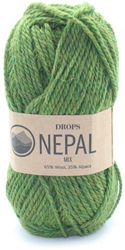 Drops Nepal Mix 7238 Olijfgroen