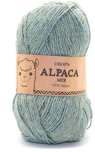 Drops Alpaca Mix 7323 Aqua/grijs