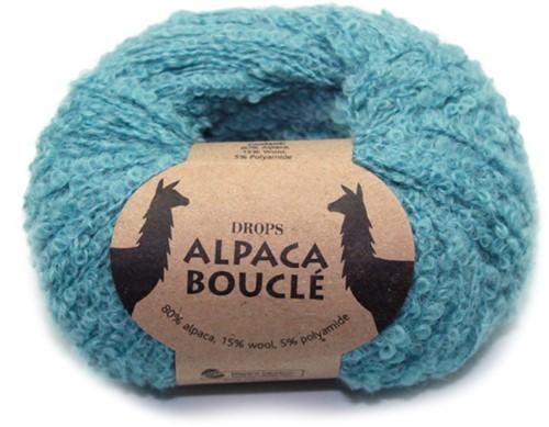 Drops Alpaca Bouclé Uni Colour 7402 Licht-zeegroen