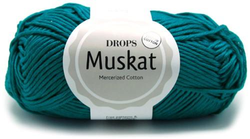 Drops Muskat Uni Colour 74 Petrol