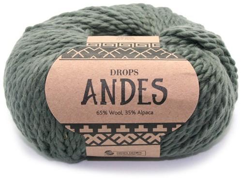 Drops Andes Uni Colour 7810 Mosgroen