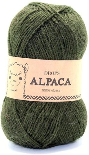 Drops Alpaca Uni Colour 7895 Donkergroen