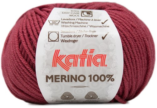 Katia Merino 100% 79 Raspberry red