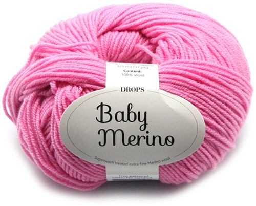 Drops Baby Merino Uni Colour 07 Roze