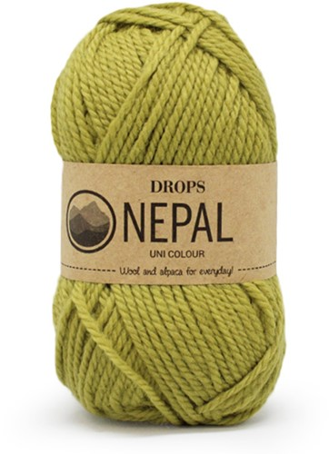 Drops Nepal Uni Colour 8038 Licht-olijf