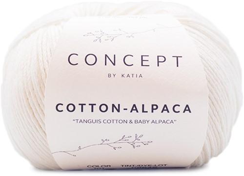 Katia Cotton Alpaca 80 White