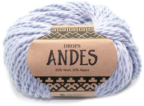 Drops Andes Uni Colour 8112 IJsblauw