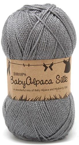Drops BabyAlpaca Silk Uni Colour 8465 Medium-grey