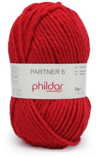 Phildar Partner 6 1459 Rouge