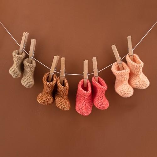 Haakpatroon Yarn and Colors Oh Baby! Crochet Booties