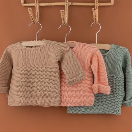 Yarn and Colors Oh Baby! Sweater Breipakket 009 Limestone
