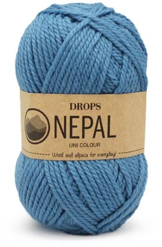 Drops Nepal Uni Colour 8783 Vergeet-me-niet