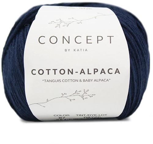 Katia Cotton Alpaca 87 Dark blue