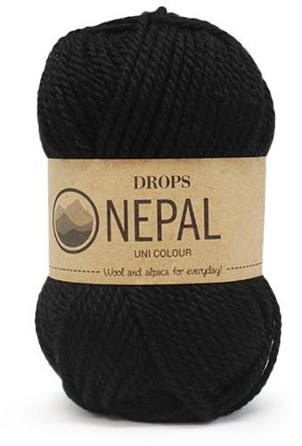 Drops Nepal Uni Colour 8903 Zwart