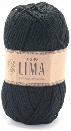 Drops Lima Uni Colour 8903 Zwart