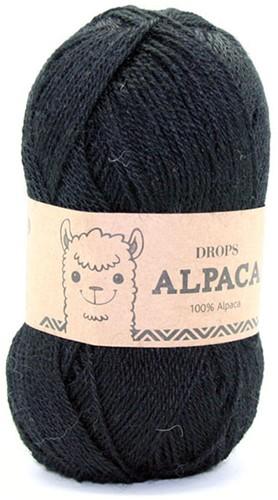 Drops Alpaca Uni Colour 8903 Zwart