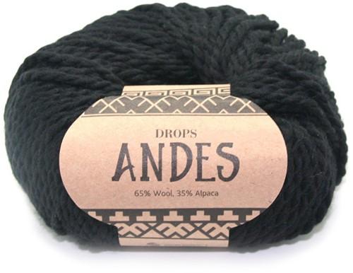 Drops Andes Uni Colour 8903 Zwart