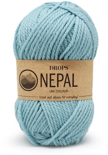 Drops Nepal Uni Colour 8908 Aqua-blue