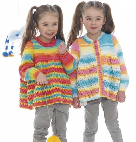 Breipatroon Stylecraft Wondersoft Merry Go Round DK No. 8969 Meisjes vest en trui