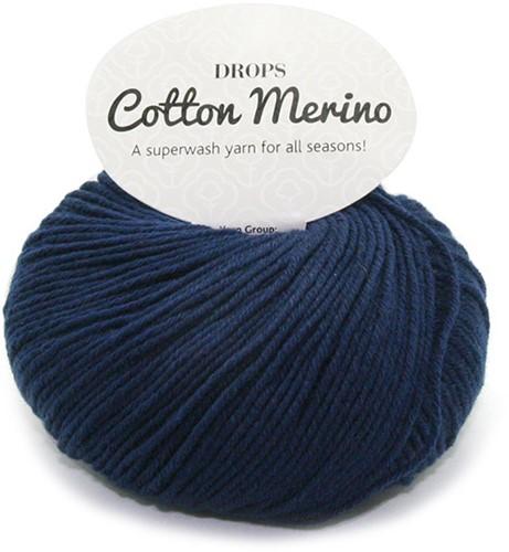 Drops Cotton Merino Uni Colour 8 Marineblauw