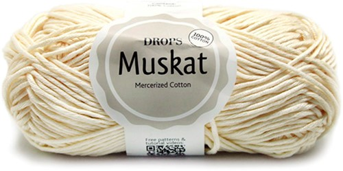Drops Muskat Uni Colour 08 Off-white