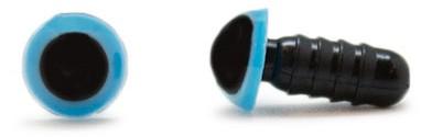 Veiligheidsogen Blauw 8mm per paar