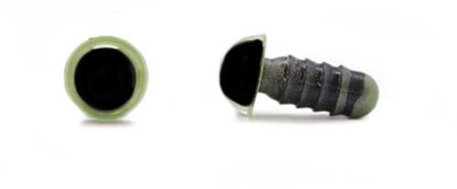 Veiligheidsogen Olijfgroen 8mm per paar