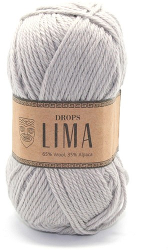 Drops Lima Uni Colour 9010 Lichtgrijs